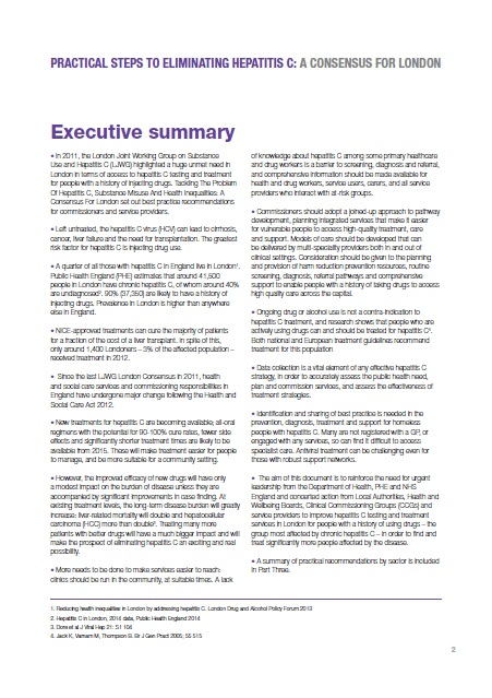 A Consensus for London 2014: Executive Summary